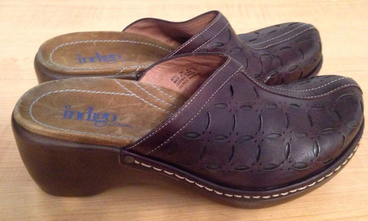 Clarks wedge open back clog mule slip on 6 M womens #clarks #Clogs #Casual
