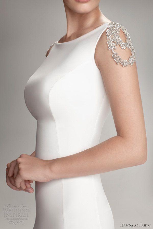 hamda al fahim fall 2012 2013 wedding dress crystal detail close up