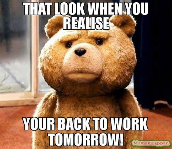 First Day Back To Work After Vacation Funny Work Jokes Memes Work Jokes