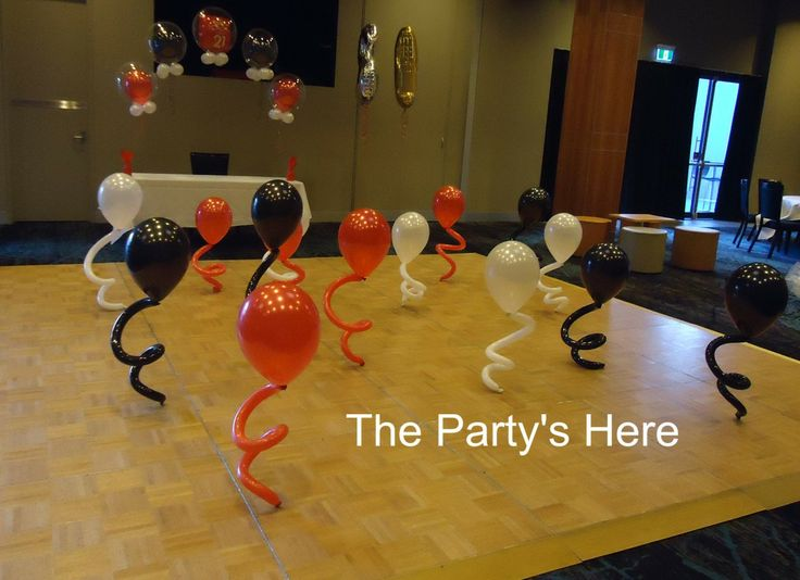 Dancing Buddies! So much fun, all your guests will be dying to get on the dance floor with these funky balloons. www.thepartyshere.com.au