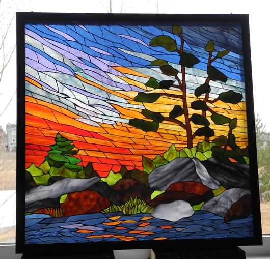 191 Best Images About Stained Glass Landscapes On