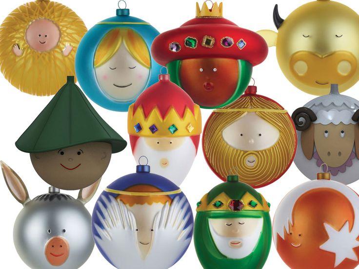 Die #Alessi Palle Presepe Christmas bauble / Weihnachtsbaumkugeln sind gerade aus Italien eingetroffen und sofort lieferbar.