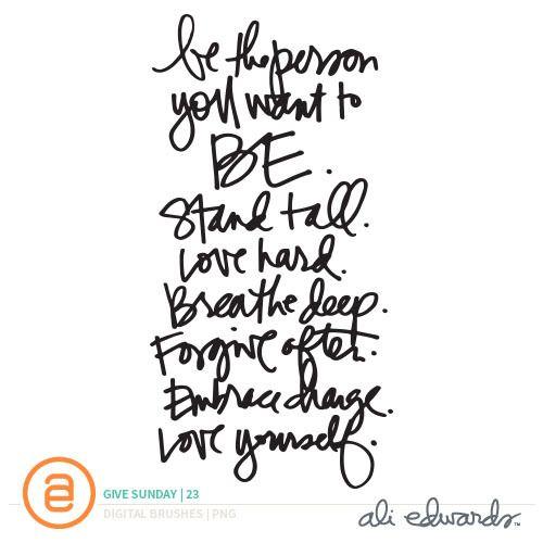 Ali Edwards | Blog: Give Sunday | 23