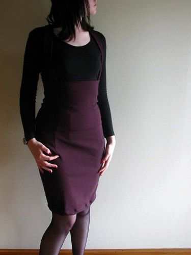 Purple Bengaline Pencil JumperSkirt MadetoMeasure by XamiaArc, $60.00