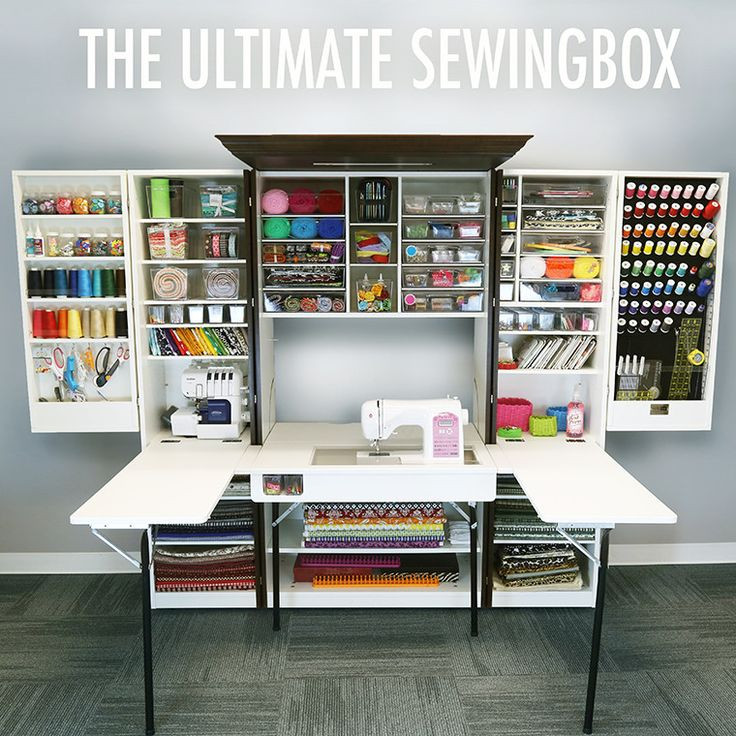 theoriginalscrapbox.com Awesome modular craft furniture. Several choices of color & materials. This unit is called The Ultimate Sewing Box & choosing white bead board, the cost is $2095.
