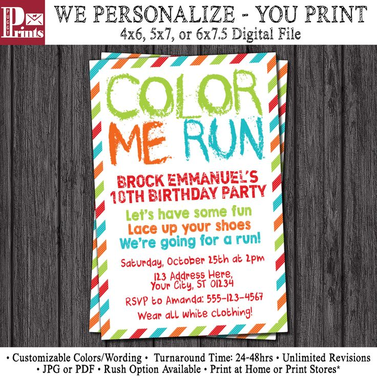 17 best Color Run Birthday Party images on Pinterest   Barefoot ...