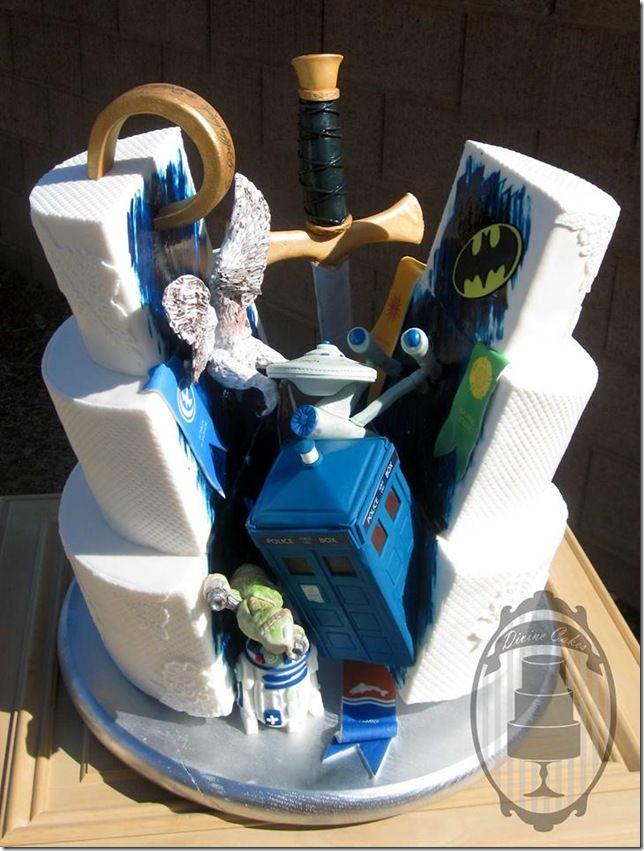 This Wedding Cake Is Bursting With Geeky Goodness  made by Divine Cakes