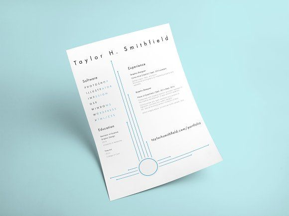 Minimal Lines Resume Template by Designed is Better on @creativemarket