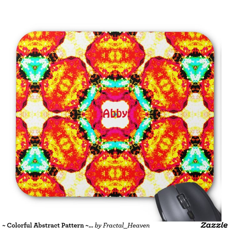 ~ Colorful Abstract Pattern ~ Personalised ABBY ~ Mouse Pad