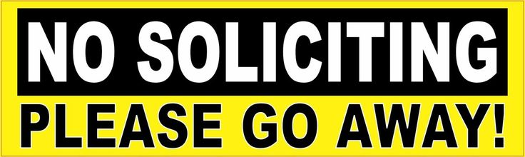 StickerTalk® Brand 10in x 3in No Soliciting Please Go Away Business Sign magnet Signs magnets