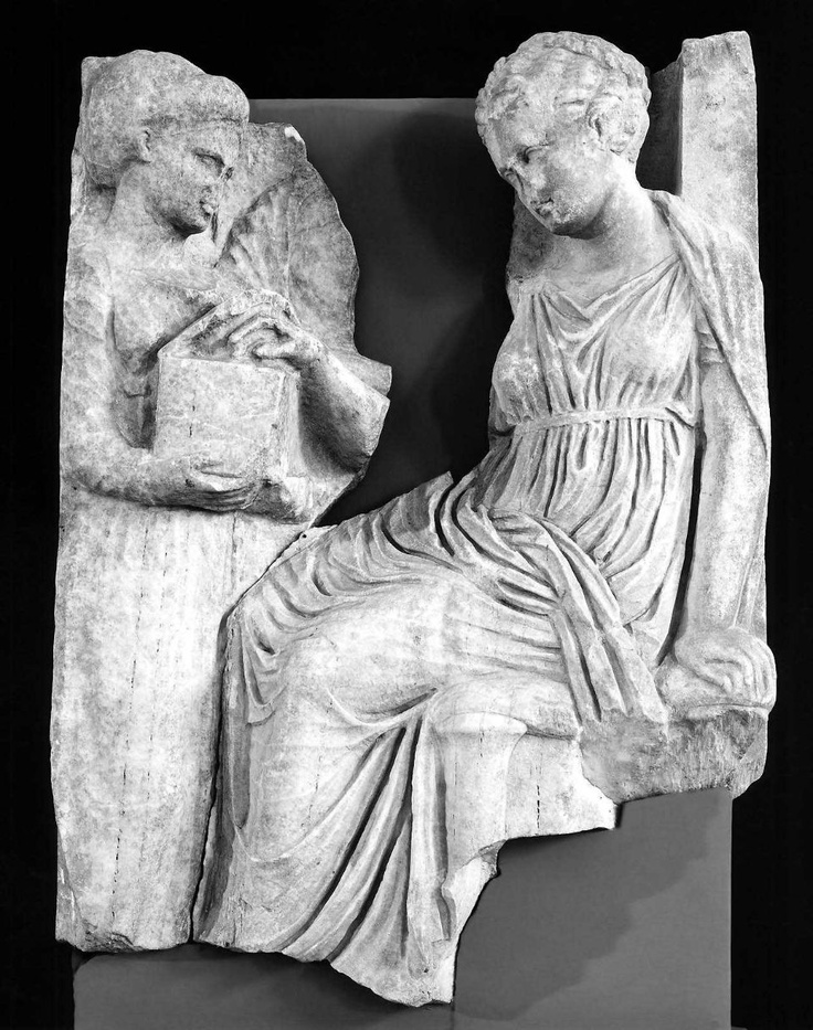 Grave stele  Greek, Late Classical or Early Hellenistic Period, about 325–320 B.C.  PLACE OF MANUFACTURE  Athens, Attica, Greece