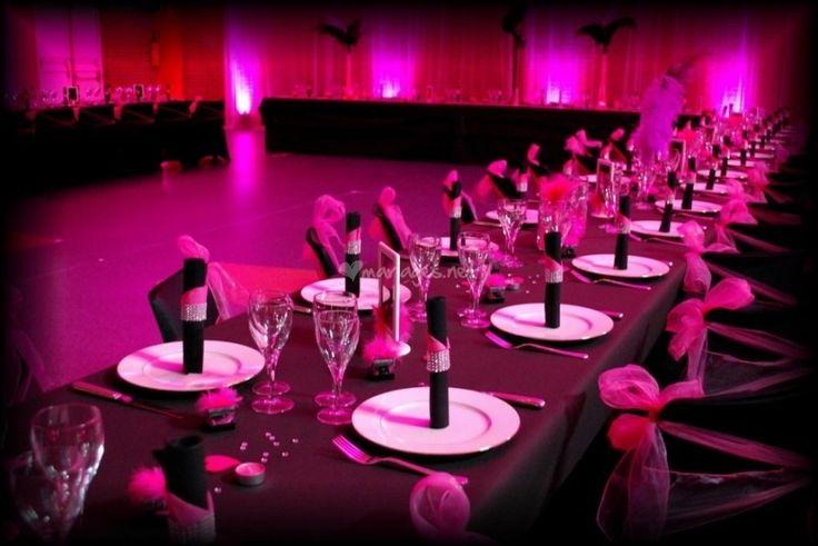 Mariage cabaret noir fuchsia de toile de rose photo 22 for Deco noir et rose