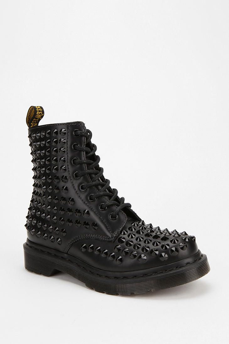 Dr. Martens 1460 All-Over Stud Boot      The most bad-ass shoe that has ever existed-  I want these so much! They'll cost you as much as 3 pairs of Docs would, though.  Guess it's time to learn how to DIY those spikes on.