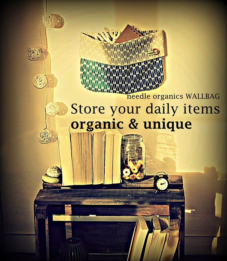 100% organic home decor for your wall. Decorate and organize with the needle WALLBAG. Handmade, unique and eco friendly. Useful as storage space, gift or colourful spot in your home.