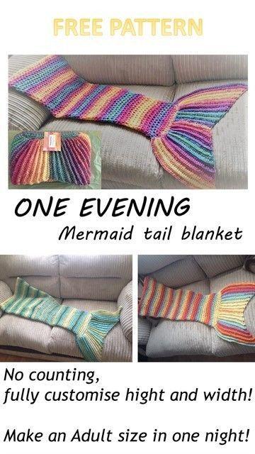 Crochet One evening Mermaid tail blanket – Peanut and Plum || http://www.peanutandplum.co.uk/2017/01/one-evening-mermaid-tail-blanket/