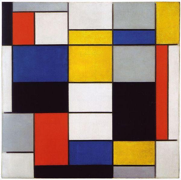 Composition A by Piet Mondrian Galleria Nazionale d Arte Moderna e Contemporanea
