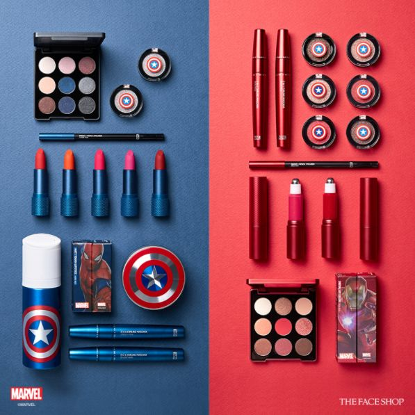 http://www.revelist.com/beauty-news-/marvel-the-face-shop/8401/That's right: The Face Shop just released an entire Marvel makeup line inspired by Spider-Man, Captain America, and Iron Man./1/#/1