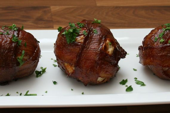 Stop the world. I just found the best BBQ Bacon wrapped meatballs ever. They are so simple you would want to make them every Sunday.    Sunday is my turn to host the BBQ gathering as my
