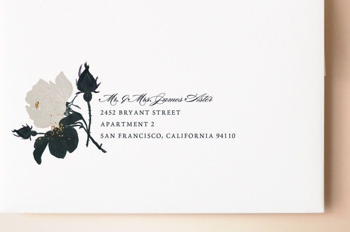 """""""Romanticism"""" - Floral & Botanical Wedding Invitations in Slate by Annie Walker."""