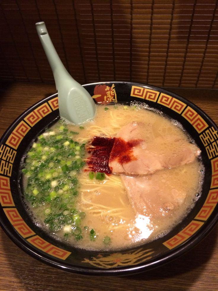 Ramen noodle in Japan. This is my favourite. Ichiran ramen in Fukuoka.
