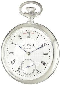 "Gevril Men's G780.025.56 ""1758 Collection"" Mechanical Hand Wind Swiss Pocket Watch Gevril. $1377.76"