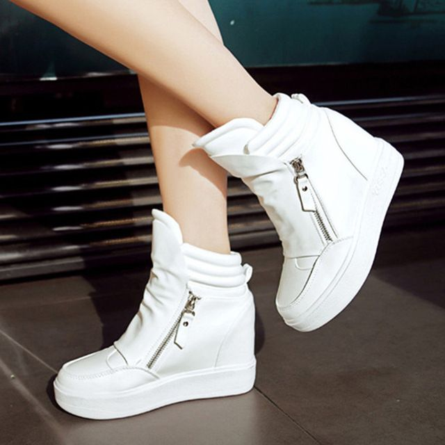 Special offer Fashion Women Wedges Ankle Boots 2016 Spring Winter Concealed Heel High Top Sexy Women Boots Double Zipper Shoes Size 35-39 S50 just only $25.00 with free shipping worldwide  #womenshoes Plese click on picture to see our special price for you