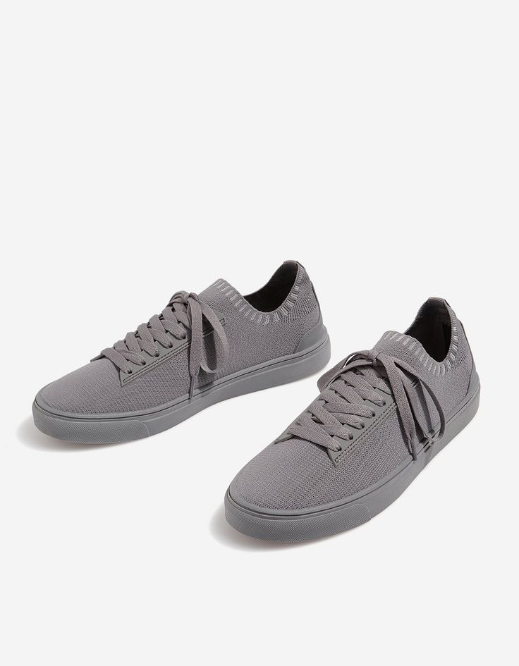 At Stradivarius you'll find 1 Monochrome grey fabric plimsolls for just 25.99 United Kingdom . Visit now to discover this and more All.