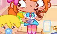 Una fiesta de cumpleaños haragana - Un juego gratis para chicas en JuegosdeChicas.com