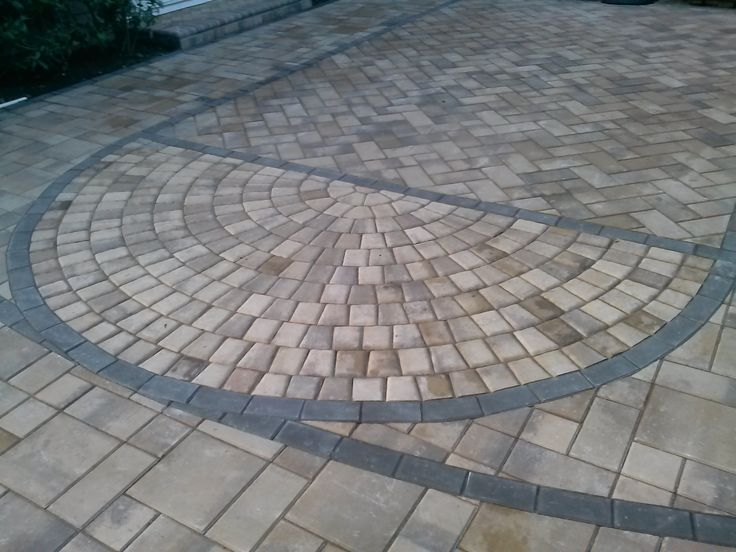Paving stone basketball court!