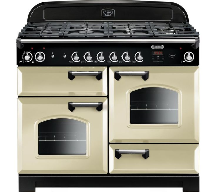 #homeappliances Rangemaster Classic 110 Dual Fuel Range Cooker - Cream & Chrome, Cream: Top features:- Six cooking zones for… #electronics