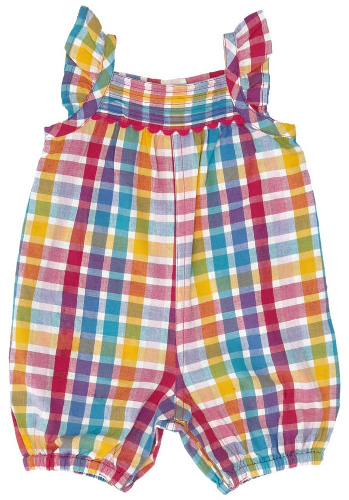 jojo maman bebe sunsuit rainbow check 0 3 months bebe plaid and ps. Black Bedroom Furniture Sets. Home Design Ideas