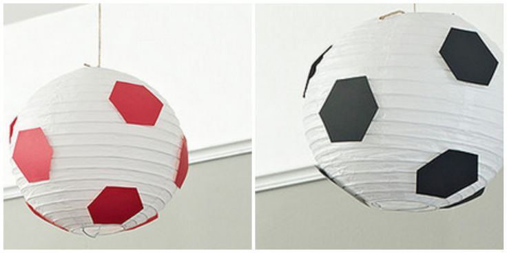 DIY lamparas de balon de futbol