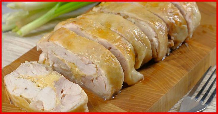 Transformați un pui obișnuit într-o ruladă delicioasă, care va decora masa de Crăciun. Rulada se prepară dintr-un minim de ingrediente, este foarte gustoasă și suculentă, este umplută cu cașcaval și sos picant de muștar. Această ruladă apetisantă va atrage toate privirile și va încânta papilele gustative. Savurați-o cu sos sau legume proaspete! INGREDIENTE -1 pui -4 linguri de smântână -1 lingură de muștar -4 căței de usturoi -150 g de cașcaval -sare și piper Notă: Vezi Măsurarea…