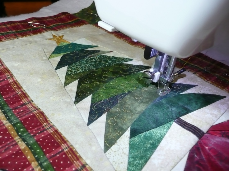 Paper Pieced Christmas Tree Wall Hanging