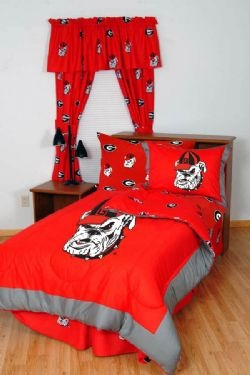 University of georgia georgia bulldogs and bedding for Georgia bulldog bedroom ideas