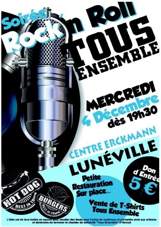 Soirée Rock'n Roll « Tous Ensemble », Lunéville, Lorraine