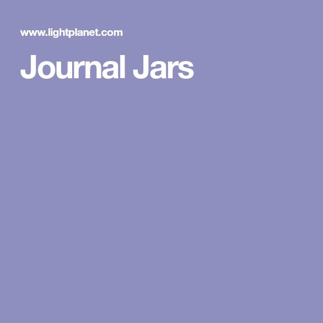 Journal Jars