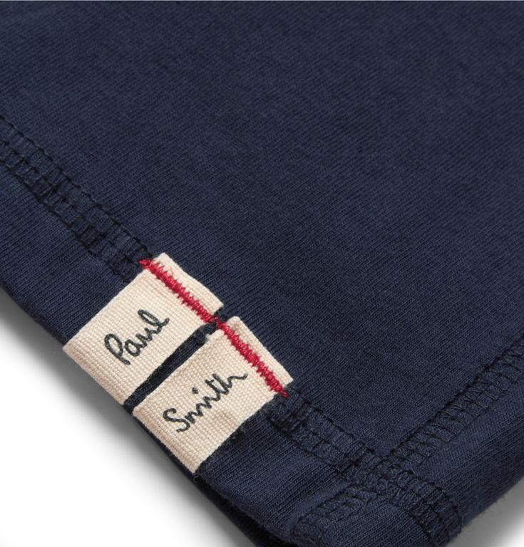 Make the most of your downtime with Paul Smith's comfortable cotton-jersey lounge shorts. The understated colour and adjustable waist make them ideal for relaxing at home - add a loose tee and leather slippers for easy weekends.