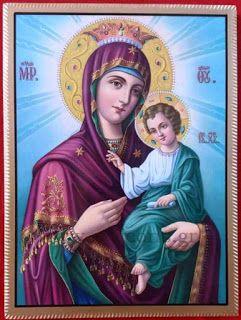 Εικόνες-Αγίων-Βυζαντινές-αγιογραφίες-ορθόδοξες-εικόνες-χειροποίητες-εκκλησιαστικά είδη: Παναγία με Χριστό η Οδηγήτρια