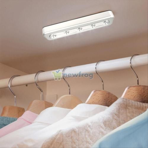 wireless closet lighting. details about 5 led light cabinet wardrobe kitchen cupboard closet lamp blub wireless touch lighting