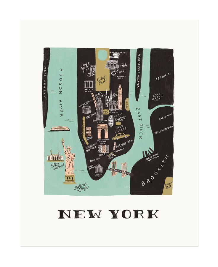 Manhattan Map Print