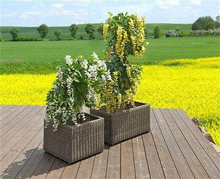 rubic kvetinach 50 cm rubic kvetinac 80 cm z umeleho ratanu pieskova