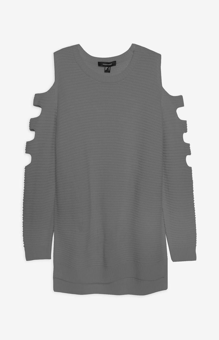 Grey cold Shoulder Jumper from Primark
