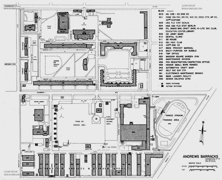 Andrews barracks berlin germany army pinterest for Motor pool floor plan