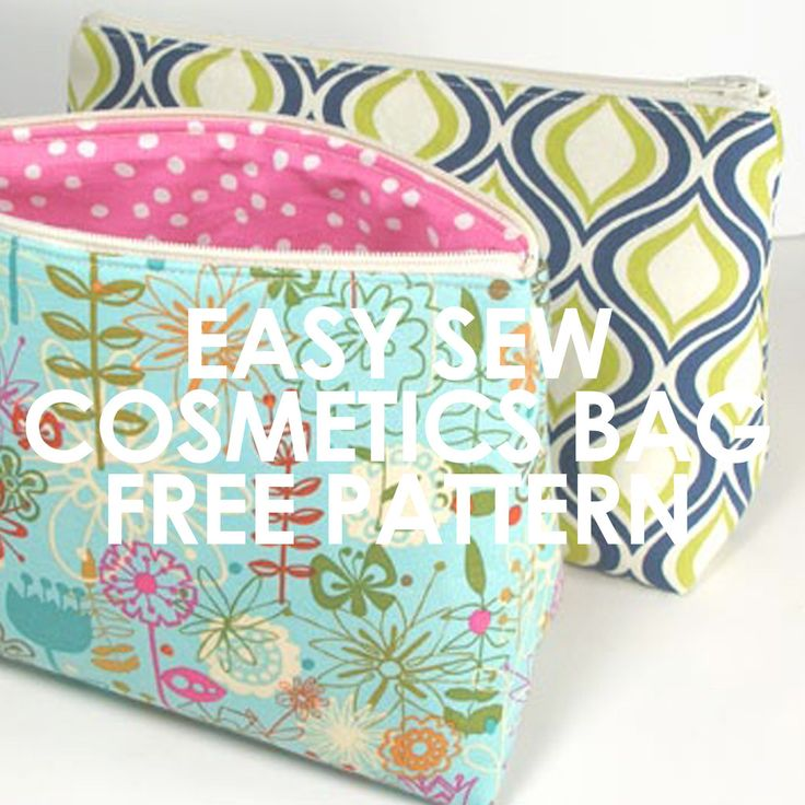 Free pattern this handy and easy to sew cosmetics bag can