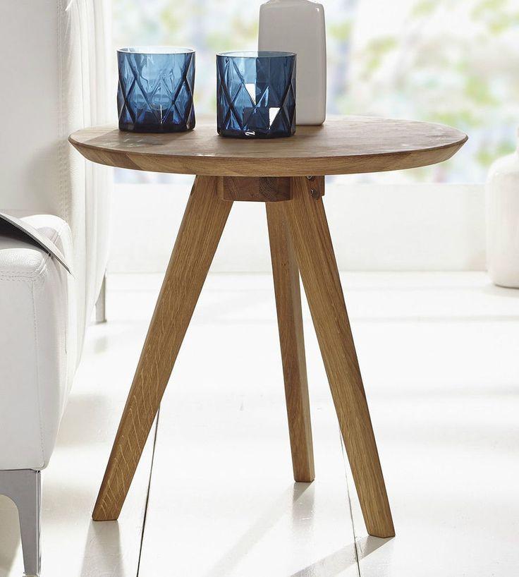 Couchtisch Tisch Beistelltisch 50cm Massivholz Holz Wildeiche Eiche NEU  OVP!!!! In Möbel