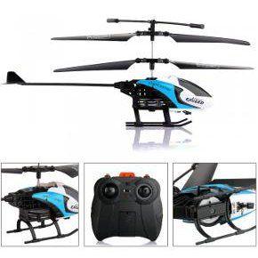 Hélicoptère Héli RC Télécommande 2 Canaux IR Gyro Bleu Jouet Cadeau Enfants à 13,00 € chez EachBuyer.com