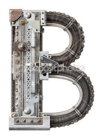 Металлические буквы — Стоковое изображение #22858494