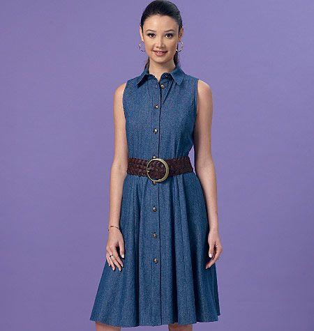 Famous 154 best Shirtdress Patterns images on Pinterest | Shirt dress  KP91