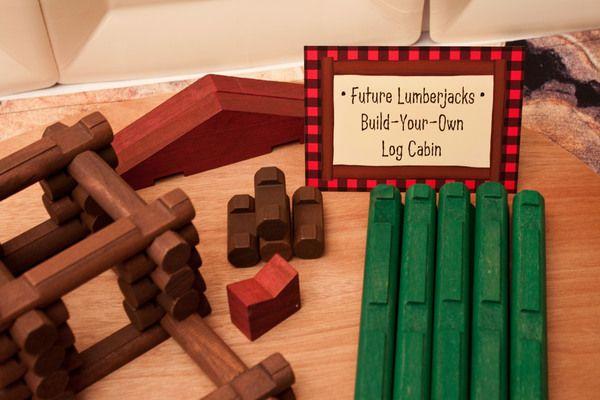 Activity: Build-Your-Own Log Cabin  {via Piggy Bank Parties}